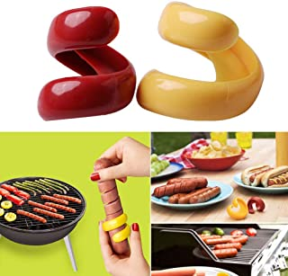 Sausage Cutter - 4Pcs/Set Food -Grade Plastic Manual Fancy Sausage Cutter Spiral Barbecue Hot Dogs Slicer Gadget Meat Tools Kitchen Gadgets