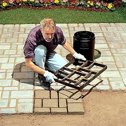 HGDH DIY Pavimento de plástico Concreto Stepping Piedra Molde de Cemento Pavimentación Molde Molde Patrimonio Decoración del jardín (Color : L)