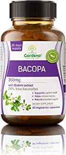 Gardeno Bacopa with Bacosides | Nootropic Brain Booster Supplement for Mental Sharpness, Focus, Memory, and Cognitive Well...