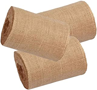"AAYU Brand Premium 3 Pack 5.5""-6"" Wide Burlap Ribbon Roll 