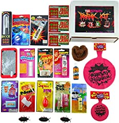 The Ultimate Prank Kit NO 1. just got even better!! Giving this as a gift could be a highlight of any party or holiday break! Loaded with lots of classics and also exciting new pranks that will cause tons of laughs! Making this truly the Ultimate Pra...
