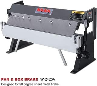 KAKA INDUSTRIAL W-2420A, 24-Inch Box and Pan Brake, Solid Construction Sheet Metal Brake, High Precision Pan and Box Metal Brake, Easy Operation Metal Box Brake, 20 Gauges Sheet Metal Machine