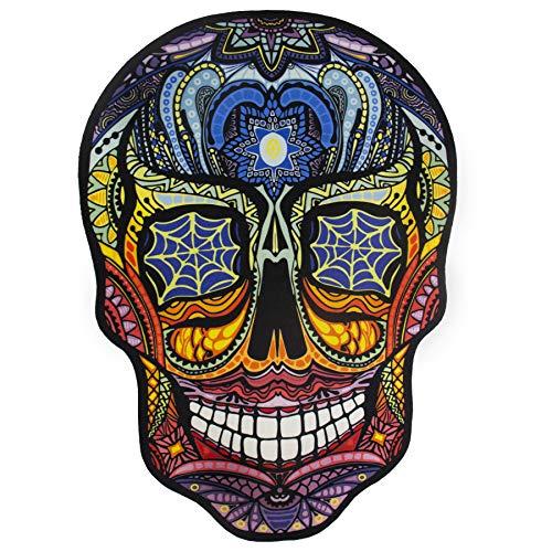 Debonsol - Tapis Salon Moderne Tete DE Mort Imprime Mexicaine Multicolore 90x130cm