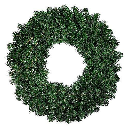 Gesh 1 guirnalda de pino artificial de 30 cm para puerta delantera, ventana, chimenea, decoración de Navidad