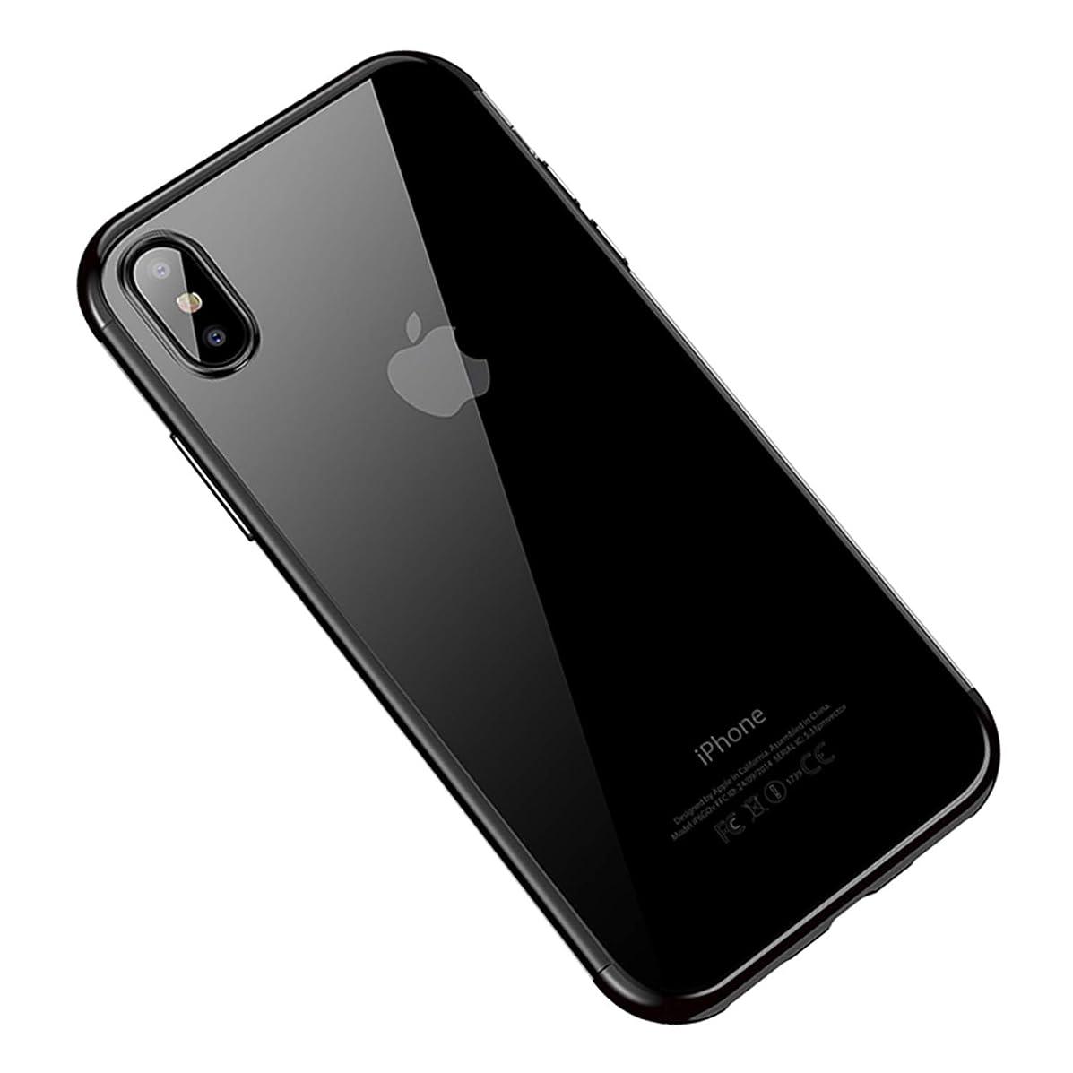 UNIYA iPhone Xs 5.8 inch Case, Ultra Thin Transparent Plating TPU Anti-Scratch Case Cover