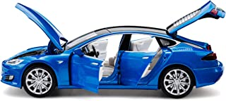 SASBSC Model S Toy car Alloy Model Cars Pull Back Toy Cars for 3 + Years Old (Blue)