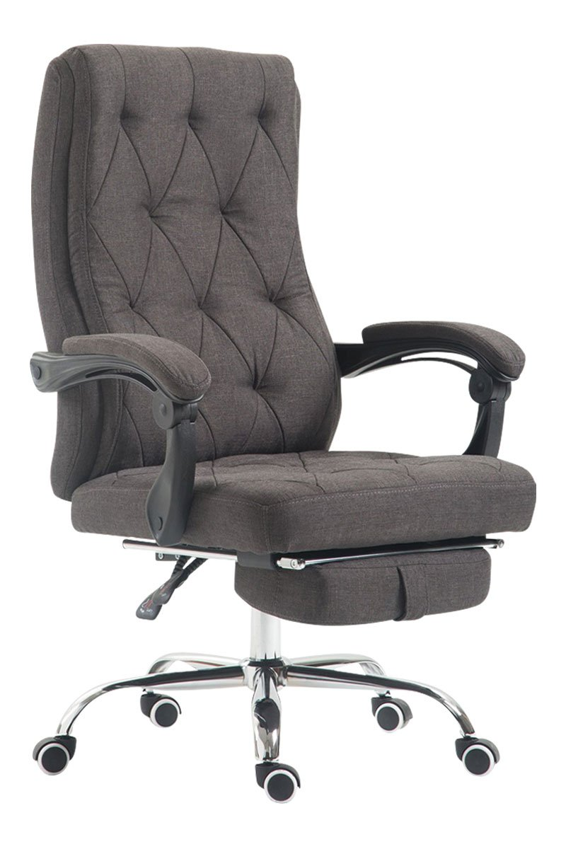 Luxury Fabric Office Swivel Chair, Manager Boss office chair with Footrest,  Extra Padded Computer Chair, High Back Executive Reclining Swivel Office