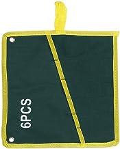 Bärbar Hållbar Duk Hushållsverktyg Förvaringsfickuppsättning Multifickfack Design Skiftnyckelficka Grön(6PCS)