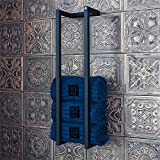 Handtuch-Halter Medium Matt-Schwarz   Badetuch-Halter für mehrere Handtücher zur Wandmontage - Industrial-Design und handgefertigt - Handtuch-Stangen Rack aus pulverbeschichtetem Stahl - 66x17x14 cm