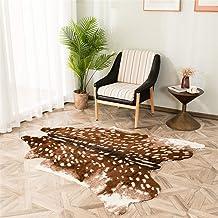 jinchan Zebra Print Area Rug Faux Skin Cowhide Animal Design Mat Safari Rug Indo