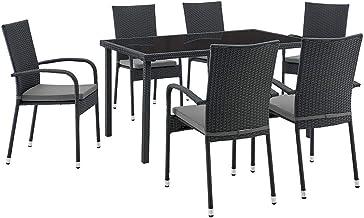 Shangri-La Balmoral 7 Piece Outdoor Furniture Dining Set (Grey)