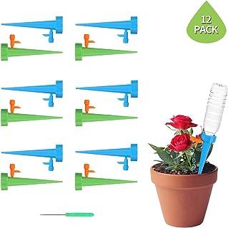 Bojly 12PCS Rociadores Irrigation Ajustable, Drippers Riego Goteo Automático Micro-riego Aspersores, Sistema de Riego para Invernadero Jardín de Bricolaje, Planta