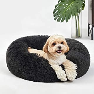ANWA Small Washable Dog Round Bed, Dog Donut Bed Small Dog, Plush Dog Calming Bed