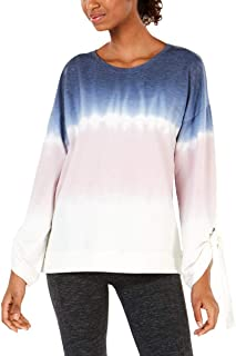 Ideology Tie-Dyed Tie-Sleeve Top Tranquility Size Large