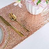 Camino de mesa ShinyBeauty para boda y eventos, 30x 180cm, Rose Gold Color, 30x180cm