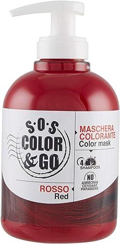S.O.S COLOR & GO Maschera Colorante Riflesssante e ravvivante Rosso 300 ml