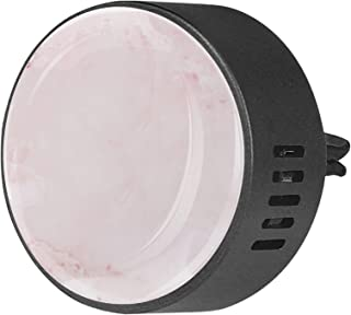 2pcs diffuseur d'aromathérapie diffuseur d'huile essentielle de voiture pince d'aération rose rose marbre texturé