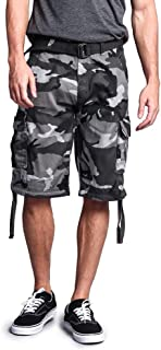 G-Style USA Men's Ripstop Belted Cargo Shorts