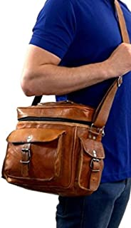 Genuine Leather DSLR SLR Vintage Camera Shoulder Messenger Bag Camera Satchel