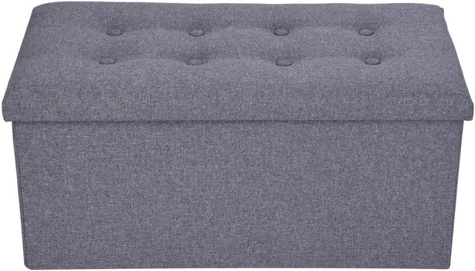 Award-winning store PUTEARDAT Folding 55% OFF Storage Ottoman high-Density fiberboar - Bench