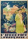 Vintage-Poster, Reiseposter Vietnam und Indochina,