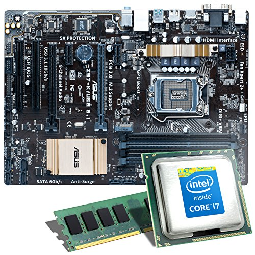 Intel Core i7–5775C/Asus Z97-P scheda madre bundle | CSL kit aggiornmento PC Intel Core i7–5775C 4x 3300mhz, Intel Iris Pro Graphics 6200, GigLAN, 7.1Sound, USB 3.0| Kit | PC Tuning Kit aggiornamento
