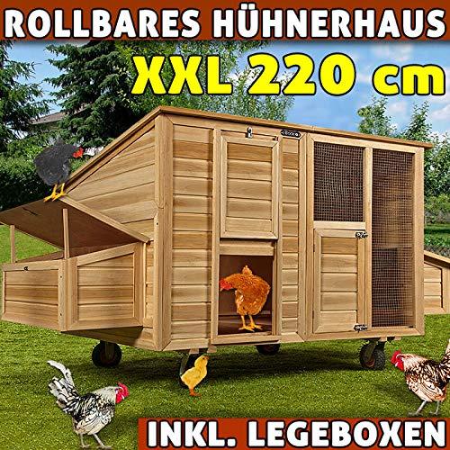 Cadoca Hühnerhaus Hühnerstall Rollbar Stall Kleintierstall Hasenstall Legenest Mobil - 2