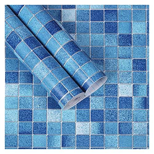GYY Cuarto De Baño Pegatinas De Pared PVC Mosaic Papel Tapiz Cocina Impermeable Tile Pegatinas Plástico Vinilo Adhesivo Papeles De Pared Decoración del Hogar (Color : A, Size : 10m x 45cm)