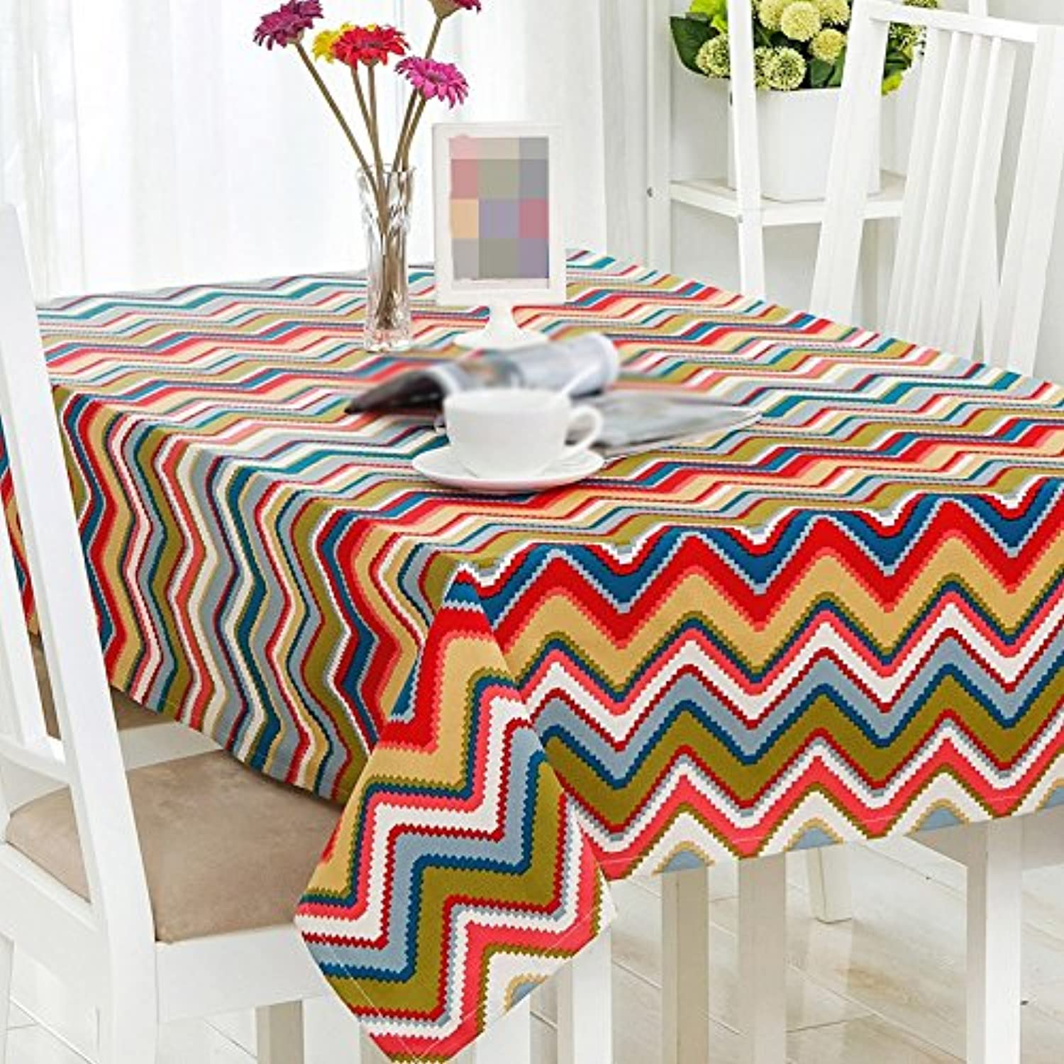 ANDEa Modern Simple Tablecloth Geometry Square Table Café Book Tablecloth Table Linen Western Restaurant Rectangle Table Cloth Coffee Table Cloth Art Comfortable ( color    1 , Size   140220CM )