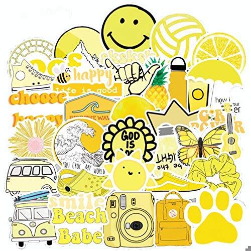 10/30/50PCS yellow small fresh waterproof cute cartoon trolley case small fresh stickers graffiti decorative toys wholesale