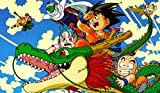 Masters of trade Dragonball Z Collage Super Dragon Ball Z DBZ playmat, gamemat 24' Wide 14' Tall for Trading Card Game Smooth Cloth Surface Rubber Base