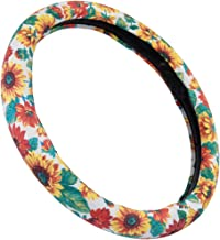 Mayco Bell Women's Cute New Flower Steering Wheel Cover (Sunflower)