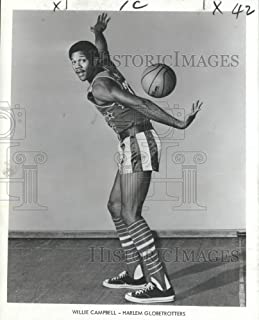 Historic Images - 1968 Press Photo Willie Campbell, Harlem Globetrotter Basketball Player