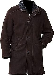 KAAZEE Robert Taylor Sheriff Walt Longmire Suede Leather Trench Coat for Men