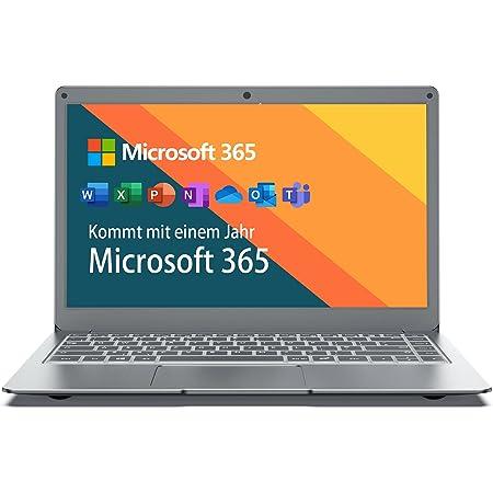 Jumper Ordenador portátil de 13,3 Pulgadas (Microsoft Office 365, 4GB+64GB, Windows 10 Laptop, Intel Celeron N3350, 2.4G/5G WiFi, HDMI, USB 3.0, Portátil HD, Memoria ampliable)-Teclado QWERTY Español