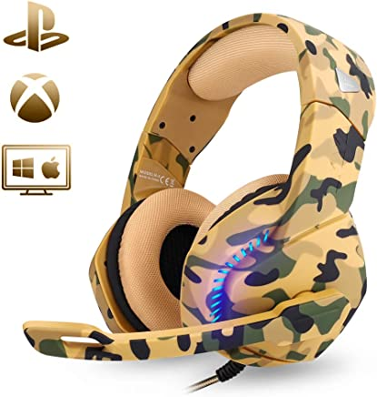 PHOINIKAS Stereo 7.1 Sound Gaming Headset for PS4 Xbox...