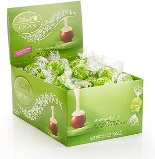 Lindt LINDOR Easter Spring Flower Milk & White Chocolate Truffles, Kosher, 60 Count Box