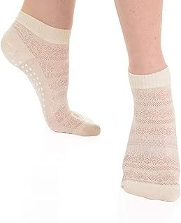 Great Soles Crochet Non Skid Sticky Grip Socks for Yoga, Pilates, Barre