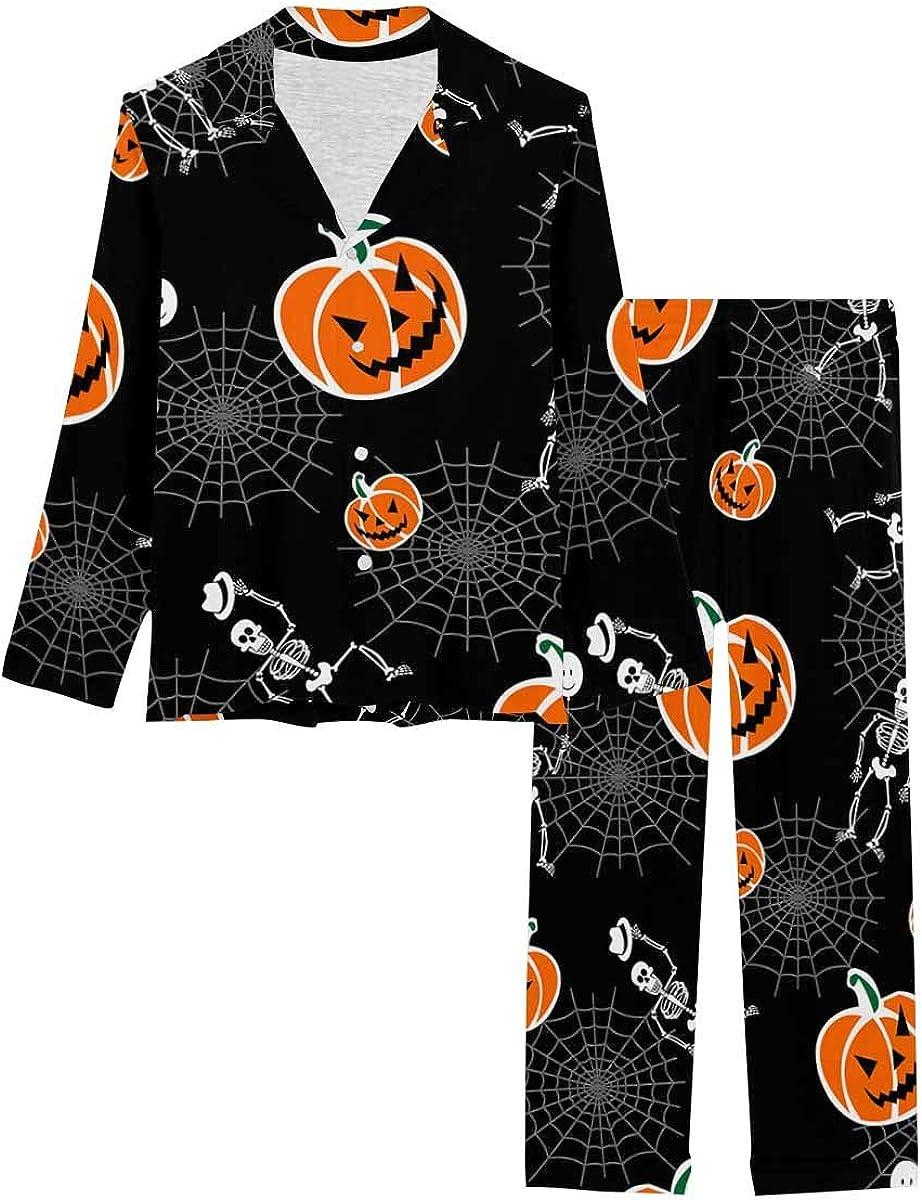 Seasonal Wrap Introduction InterestPrint Sleepwear Button Down Loungewear New mail order H with Pants Long