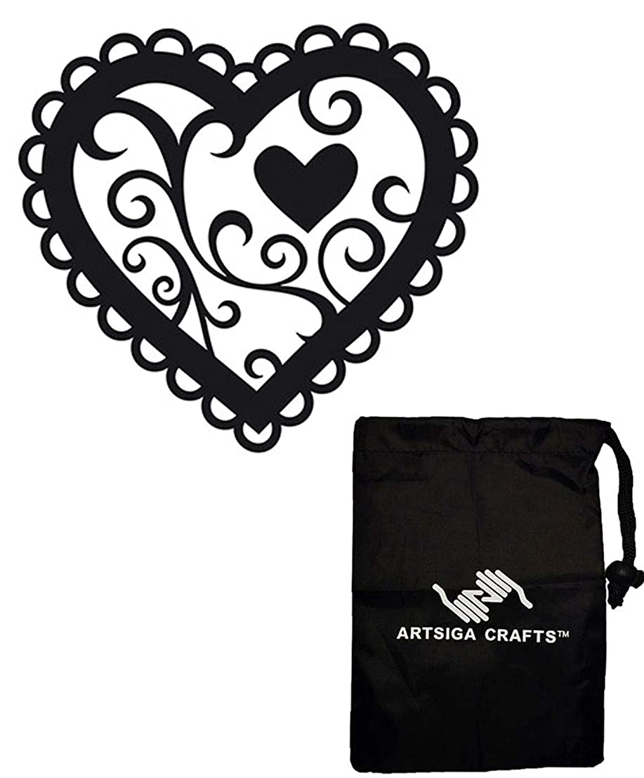 Darice Embossing Folders for Card Making Valentine 4.5 x 5.75 1218-46 Bundle with 1 Artsiga Crafts Small Bag