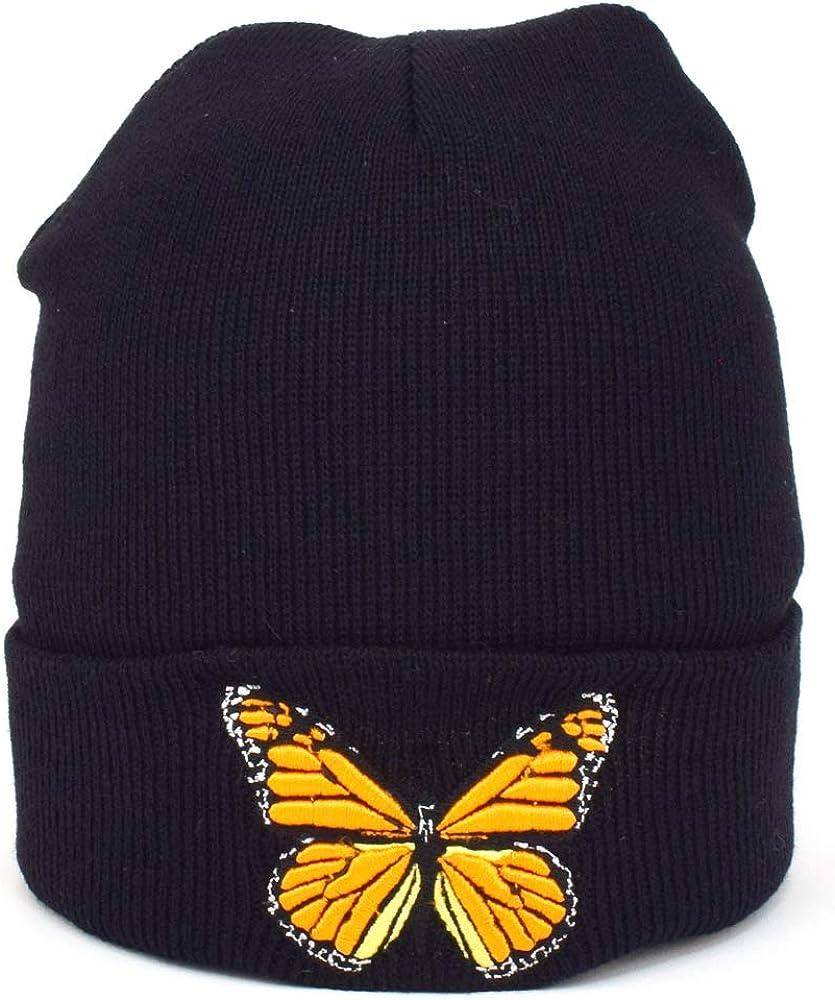 Butterfly Cuffed Beanie