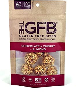 The GFB Gluten Free, Non GMO High Protein Bites, Chocolate Cherry Almond, 4 Ounce (6 Count)