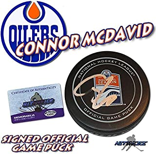 connor mcdavid signed puck