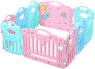 Baby Care Playpen Fence - Banister Kids Activity Safety Play Centre Yard Home Indoor Outdoor Pen Railing (10 Panel )Size 4...
