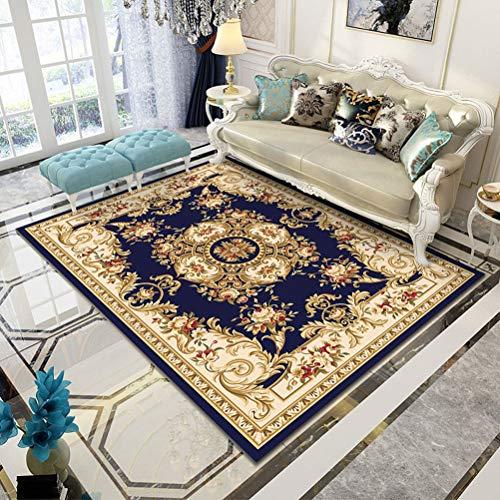 QUD Europese kunst nobele tapijt klassieke oosterse meisje slaapkamer tapijt Perzische vezel tapijt gouden blauwe woonkamer badkamer thuis deurmat 20/1/26