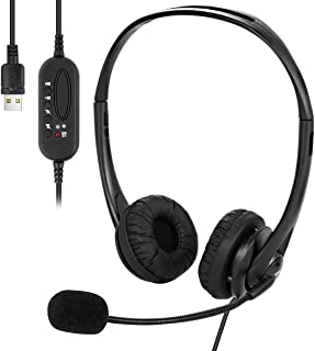 MRG ヘッドセット USB 1080P フルHD 両耳 ヘッドホン マイク付き PC USB接続 テレワーク ZOOM スカイプ 対応 ハンズフリー
