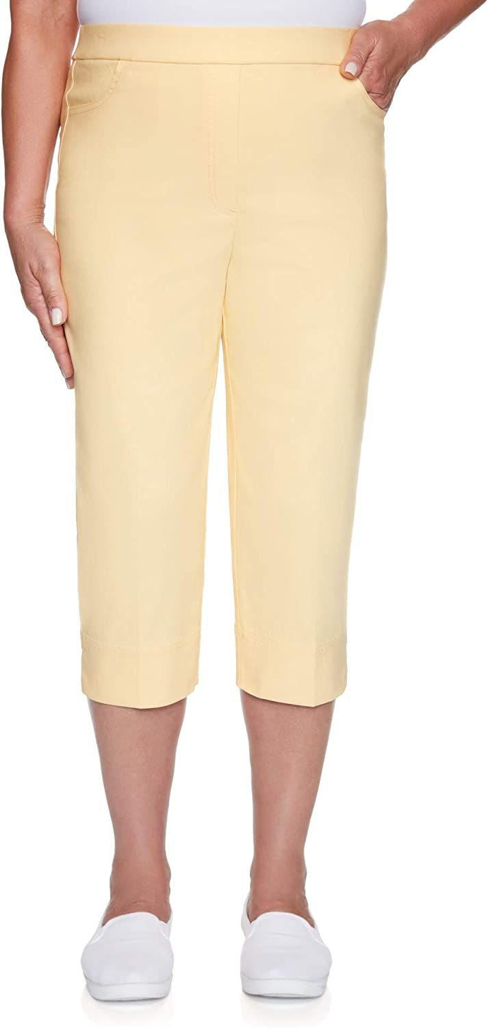 Alfred Dunner Women's Classic Fit Allure Clam Digger Pant