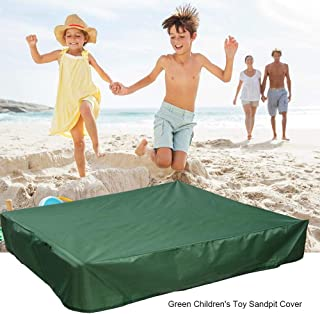 FOONEE Sandbox Cover, Square Dustproof Protection Sandbox Canopy with Drawstring, Waterproof Sandpit Pool Cover, Avoid The Sand and Toys Contamination, Green,47.24 X 47.24in
