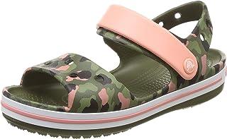 Crocs Girls Crocband Kids Khaki-Pink Camo Sandals Green in Size US 11 Little Kid