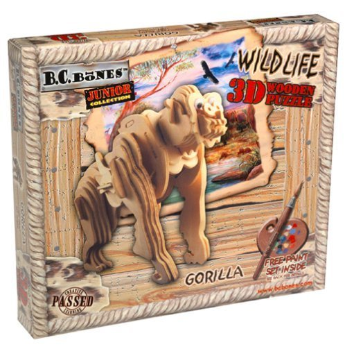 3D Wooden Jr Gorilla Puzzle by Animal Planet